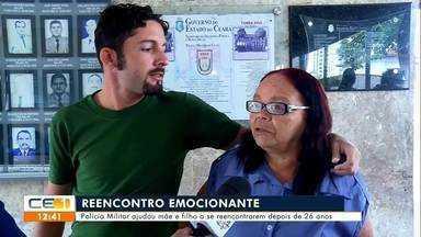 Polícia Militar ajudou mãe e filho a se reencontrarem depois de 26 anos - Saiba mais em g1.com.br/ce