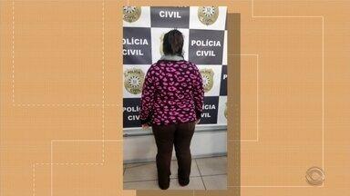 Mulher acusada de homicídio é presa em Pelotas - Assista ao vídeo.