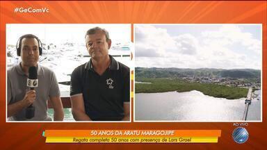 GE entrevista velejador brasileiro Lars Grael, que participará da regata Aratu Maragojipe - O percurso completa cinquenta anos neste sábado (24).