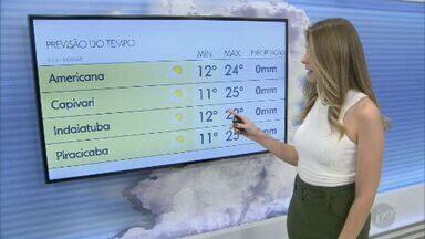 Confira a previsão do tempo para Campinas e região neste sábado (24) - Dia deve ter tempo seco e sol entre nuvens.