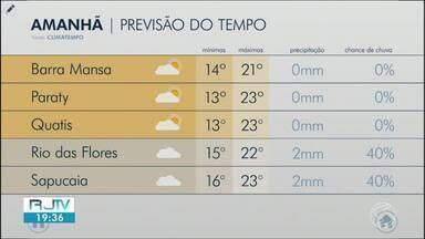 Previsão do tempo: sábado será de dia nublado no Sul do Rio - Temperaturas seguem amenas na região.