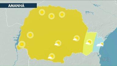 Fim de semana com sol em toda a região - Temperatura não passa dos 30°C no fim de semana