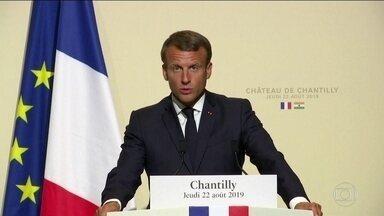 Europa ameaça retaliações comerciais por conta de queimadas na Amazônia - O presidente francês, Emmanuel Macron, disse em nota que 'diante dos fatos, a França se opõe ao acordo da União Europeia com o Mercosul'.