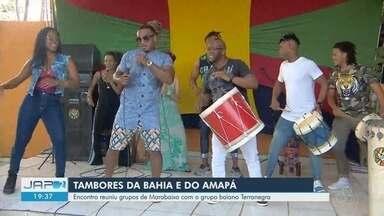 Encontro reuniu em Macapá grupos de marabaixo com o grupo Terranegra da Bahia - Programação aconteceu hoje, antes do grupo sair em turnê em Caiena.