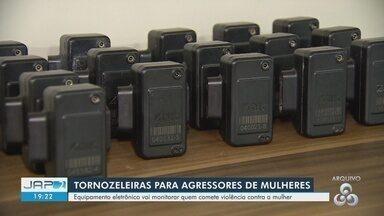 Tornozeleiras eletrônicas monitoram quem comete violência contra a mulher no AP - Cerimônia marcou entrega de material.