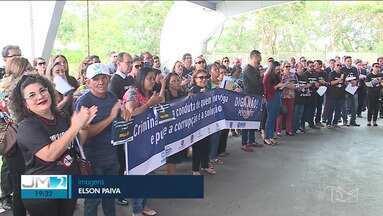 Juízes, delegados e promotores protestam contra projeto de abuso de autoridade - Protesto aconteceu na sede das Promotorias, em São Luís.
