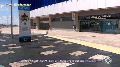 Grêmio enfrenta o Athlético-PR neste sábado (24), na Arena do Grêmio - Partida começa às 17h com transmissão exclusiva no site do GloboEsporte.com.