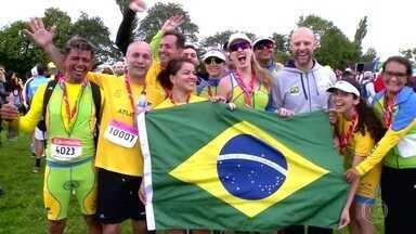 Brasileiros participam dos Jogos Mundiais de Transplantados - Fantástico acompanhou a participação de casal novato e de dois veteranos na competição, aberta para quem recebeu um transplante ou foi doador.