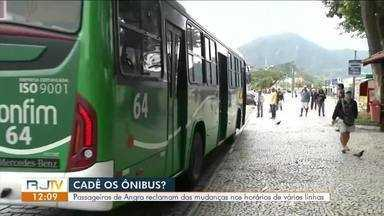 Passageiros de Angra reclamam das mudanças nos horários das linhas - Representante da prefeitura explica alterações em horários de Ônibus.
