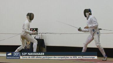 Cerca de 600 atletas participam de competições na AFA em Pirassununga - 53ª edição reúne membros da Força Aérea, Exército e Marinha.