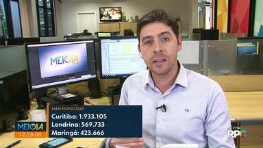 Maringá chega a 423 mil habitantes - Projeção foi divulgada nesta quarta-feira (28) pelo IBGE.