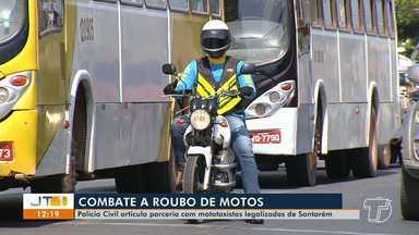 Polícia Civil de Santarém articula parceria com mototaxistas para combater roubo de motos - Uma rede de informações deve ser montada com a ajuda desses profissionais.