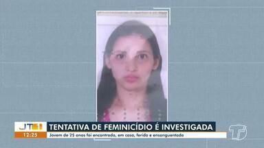 Investigação de tentativa feminicídio: mulher é encontrada ferida com um tiro no rosto - O caso ocorreu na rua Marabá, bairro Santíssimo, na terça-feira (27).
