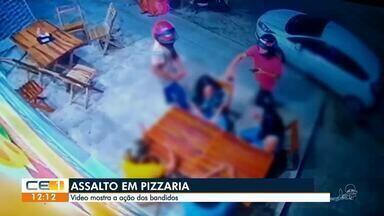 Pizzaria é alvo de bandidos duas vezes em uma semana - Saiba mais em g1.com.br/ce