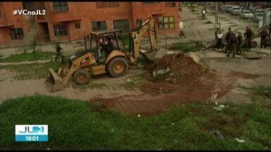 Operação derruba barricadas construídas por traficantes na Terra Firme, em Belém - A intenção seria impedir o avanço da Polícia na área.