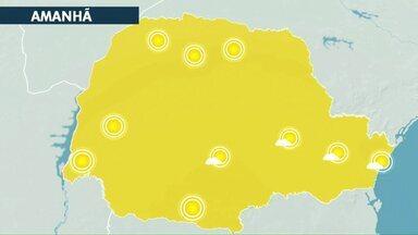 Tempo seco e quente em Cascavel nesta quinta-feira (29) - Tem previsão de chuva apenas para o domingo com a chegada de uma frente fria