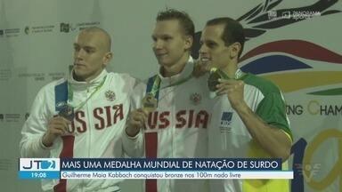 Atleta da região conquista bronze no Mundial de Natação de Surdos - Guilherme Maia Kabbach conquistou medalha nos 100 metros nado livre.