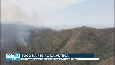 Fogo na região da Mutuca ameaça chegar ao Coxipó do Ouro, entre Chapada e Cuiabá - Fogo na região da Mutuca ameaça chegar ao Coxipó do Ouro, entre Chapada e Cuiabá.
