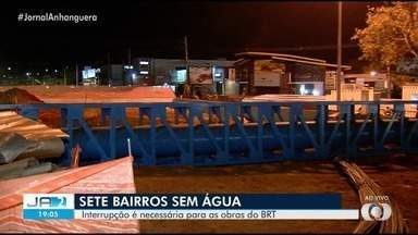 Fornecimento de água deve ser interrompido em sete bairros de Goiânia - O motivo é uma intervenção da Saneago para sequência do projeto BRT Norte/Sul, no cruzamento da Avenida 136 com a Rua 90.