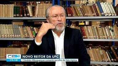 Novo reitor da UFC, Cândido Albuquerque, comenta escolha da lista tríplice - Confira mais notícias em g1.globo.com/ce