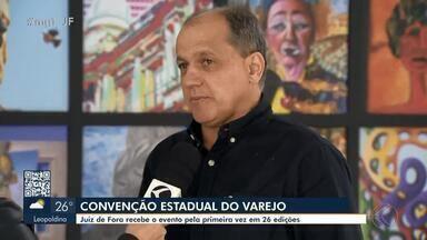 Juiz de Fora sedia a 26ª 'Convenção Estadual Varejo 360º' - São esperados até 500 empresários de diferentes municípios até o próximo sábado (31). Pela primeira vez, a cidade recebe o maior evento varejo de Minas Gerais, realizado pela Federação das CDLs do estado, em parceria com a o Sebrae MG.