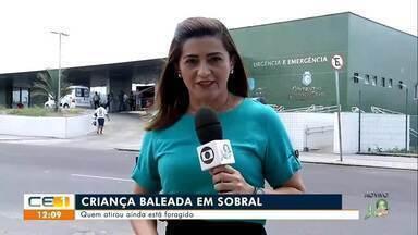 Criança é baleada em Sobral e suspeitos ainda não foram identificados - Saiba mais em g1.com.br/ce