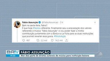 Fábio Assunção doa parte de direitos autorais de música com nome dele a instituição baiana - Doação é fruto de acordo entre o ator e banda La Fúria, que gravou a canção 'Fábio Assunção'.