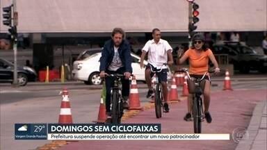 Prefeitura suspende operação das ciclofaixas aos domingos - Prefeitura suspende operação das ciclofaixas aos domingos