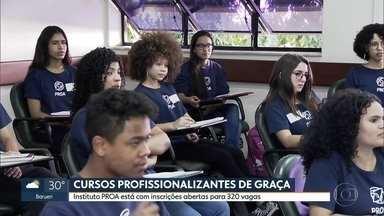 Instituto Proa abre inscrições para cursos profissionalizantes de graça - A ideia é capacitar jovens de baixa renda. Ao todo, são 320 vagas.