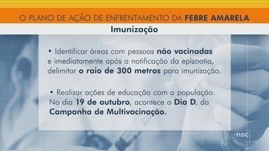 Dive aumenta ações de combate a febre amarela em SC - Dive aumenta ações de combate a febre amarela em SC
