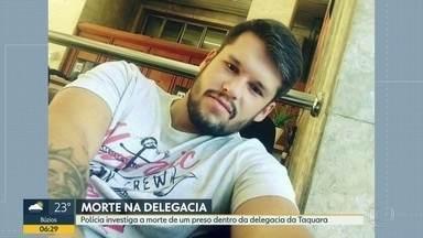 Polícia investiga morte de preso na delegacia da Taquara - Família contesta versão da polícia, que diz que homem se matou.