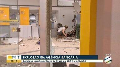 Mais uma agência bancária é alvo de bandidos em Cuiabá, desta vez no CPA 1 - Mais uma agência bancária é alvo de bandidos em Cuiabá, desta vez no CPA 1