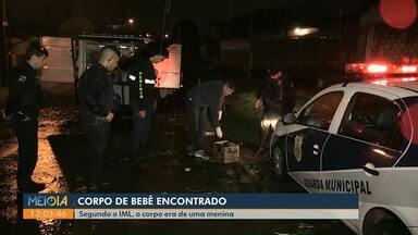 Bebê é encontrado morto dentro de sacola plástica em Ponta Grossa - O corpo pode ter sido levado pela enxurrada.