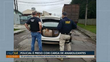 Policial é preso com carga ilegal de medicamentos e anabolizantes, no Paraná - Segundo a Polícia Rodoviária Federal, neste ano mais de 56 mil medicamentos já foram apreendidos no Estado.