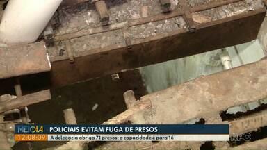 Policiais evitam fuga de presos na cadeia de São Miguel do Iguaçu - A delegacia abriga 71 presos, mas tem capacidade para 16.