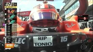Leclerc vence a primeira corrida na F1 - Leclerc vence a primeira corrida na F1