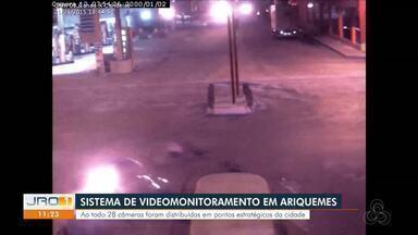 Sistema de videomonitoramento auxilia na segurança pública em Ariquemes - Ao todo são 28 câmeras distribuídas em vários pontos da cidade.