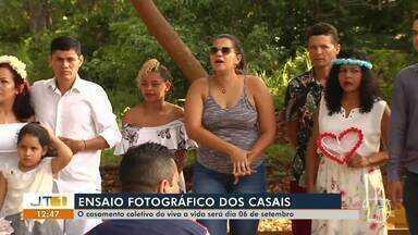 Casais se preparam para cerimônia do casamento coletivo do 'Viva a Vida' - Cerimônia será no dia 6 de setembro.