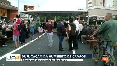 Trânsito vai ser liberado na duplicação da rua Humberto de Campos - Trânsito vai ser liberado na duplicação da rua Humberto de Campos