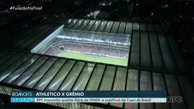 Athlético e Grêmio se enfrentam nesta quarta-feirta - O Athlético vai ter alguns desfalques para enfrentar o Grêmio na semifinal da Copa do Brasil.