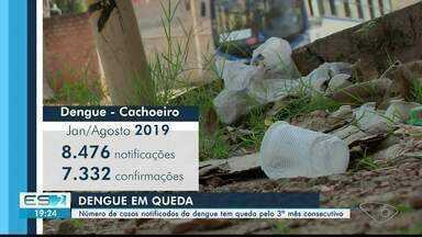 Números da dengue caem em Cachoeiro, mas trabalhos de prevenção precisam continuar - As notificações diminuíram de julho para agosto.
