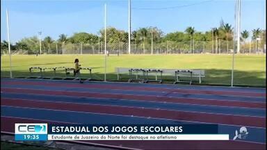 Estudante de Juazeiro do norte é destaque no atletismo nos jogos escolares - Confira mais notícias em g1.globo.com/ce
