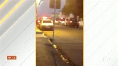 Operação contra roubo a banco termina com nove suspeitos mortos em Alagoas - Uma operação contra roubo a banco terminou com nove suspeitos mortos e outros dois presos, no agreste alagoano. Tudo aconteceu durante uma tentativa de explosão de uma agência bancária. A quadrilha, que era especializada nesse tipo de crime, estava sendo monitorada pela polícia.