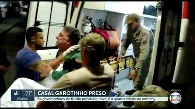 Ex-governador do Rio Garotinho já foi preso quatro vezes - Ex-governadores do Rio Anthony Garotinho e Rosinha foram presos novamente nesta terça-feira (03).