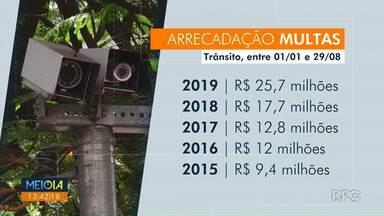 Arrecadação de multas chega a R$ 25 milhões até agosto - Valor é recorde para o período.