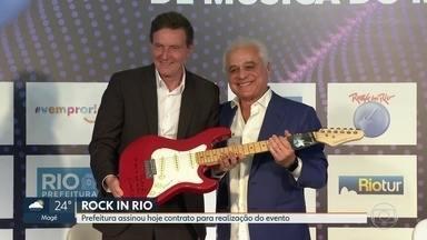Prefeitura assina contrato para a realização do Rock in Rio - O prefeito Marcelo Crivella assinou contrato nesta quarta-feira (4) para a realização do Rock in Rio que começa no fim de setembro.