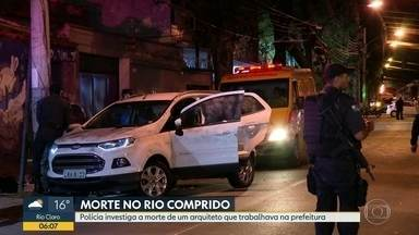 Arquiteto da prefeitura é assassinado a tiros no Rio Comprido - O assassinato de Andre Luiz Calçada aconteceu na Avenida Paulo de Frontin na tarde desta quarta (4). Segundo testemunhas, bandidos atiraram várias vezes contra o arquiteto.