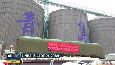 Linha 13-Jade da CPTM - Primeiro trem chega hoje ao Porto de Santos