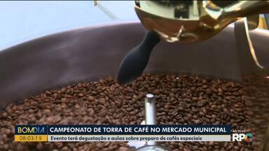 Campeonato tem a torra do café no Mercado Municipal - Evento terá degustação e aulas sobre preparo de cafés especiais