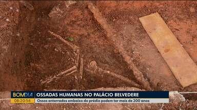 Ossadas humanas são encontradas no Palácio Belvedere - De acordo com pesquisadores, os ossos podem estar enterrados embaixo do prédio há mais de 200 anos